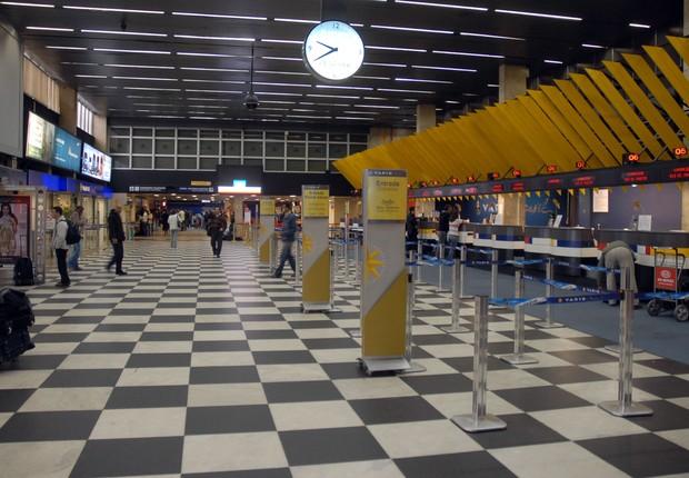 Saguão do aeroporto de Congonhas em São Paulo (Foto: Wikimedia Commons/Wikipedia)