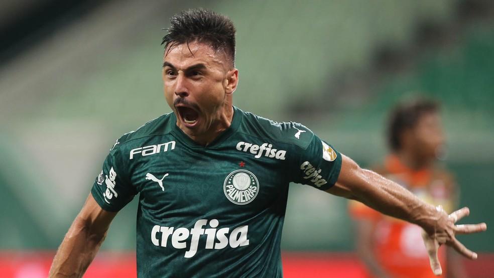 Willian marcou 17 gols pelo Palmeiras na temporada passada — Foto: Cesar Greco/Ag. Palmeiras