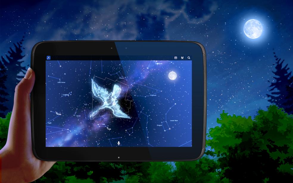 App para celular mostra planetas e estrelas no céu