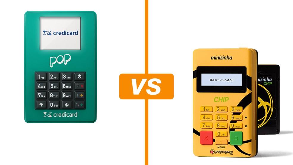 740eec29b Pop ou Minizinha Chip? Compare máquinas da Credicard e do PagSeguro ...