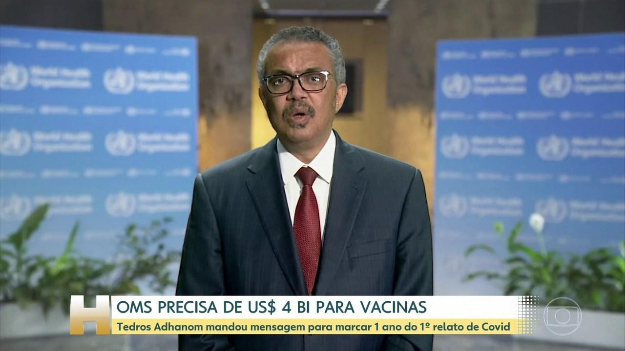 OMS precisa de US$ 4 bilhões para comprar vacinas para países de baixa renda