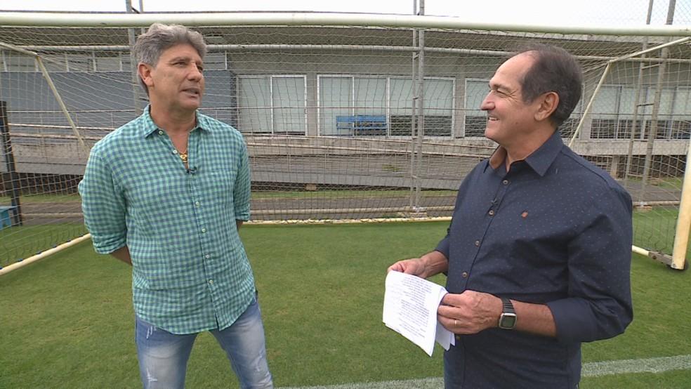 Renato Gaúcho em entrevista para Muricy Ramalho  — Foto: Reprodução