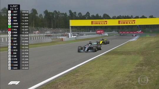 """Lewis Hamilton celebra vitória histórica: """"Foi a pilotagem da minha vida"""""""