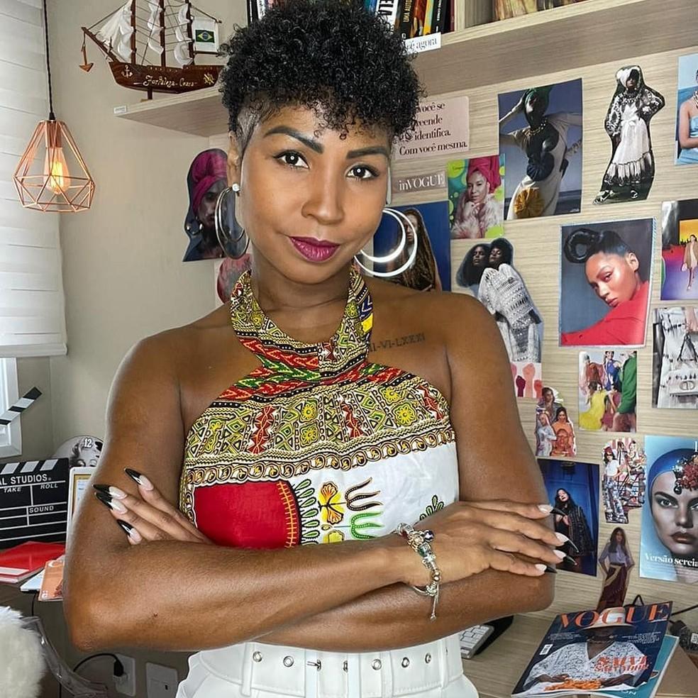 A passista Tuane Rocha — Foto: Reprodução