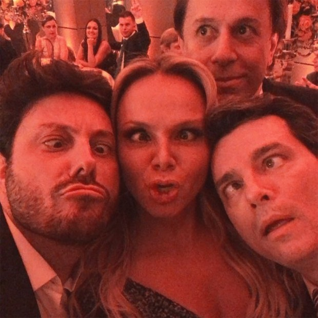 Danilo Gentili, Eliana, Tom Cavalcante e Celso Portiolli (Foto: Reprodução / Instagram)