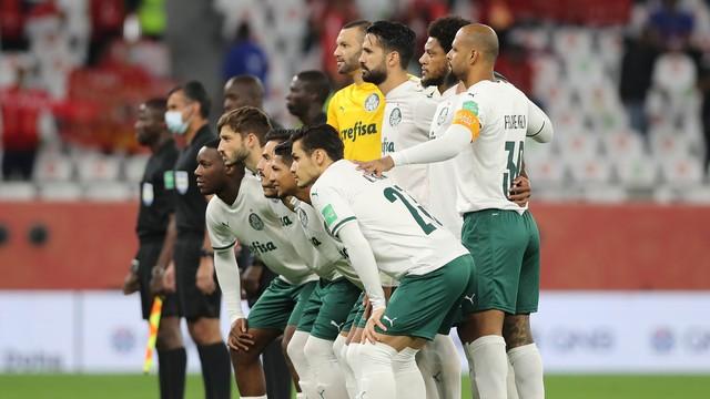 Palmeiras posado antes do jogo contra o Al Ahly