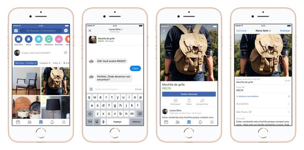 Facebook Marketplace permite anunciar, comprar e vender produtos sem sair da rede social (Foto: Divulgação/Facebook)