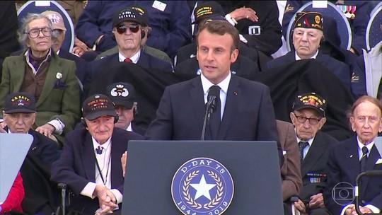 Cerimônia na França lembra os 75 anos do Dia D