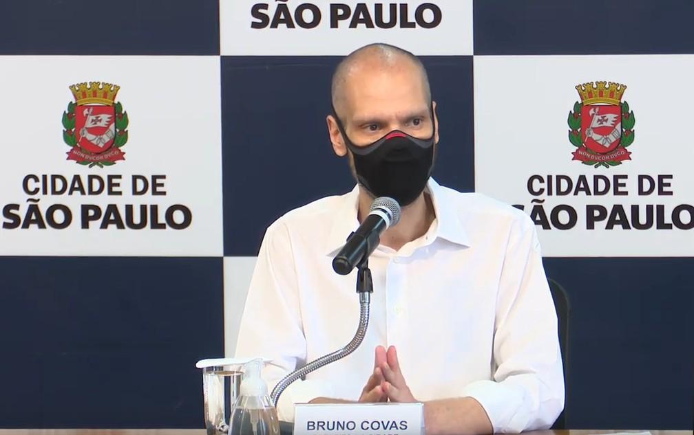Prefeito Bruno Covas — Foto: Reprodução/Youtube