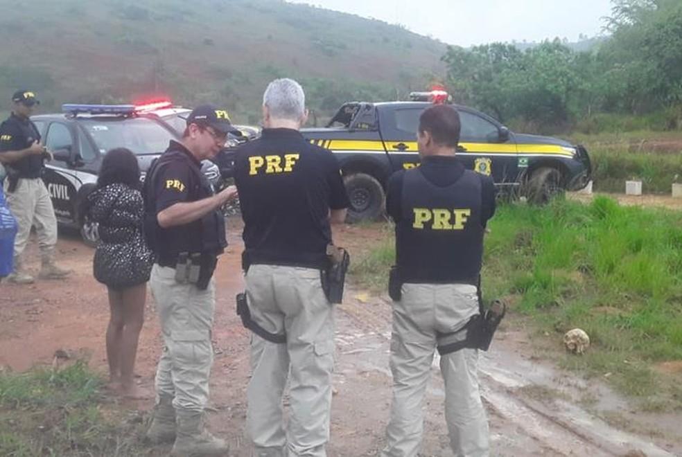 A PRF informou que um pedaço de coluna cervical também foi encontrado — Foto: Silvan Alves/Reprodução