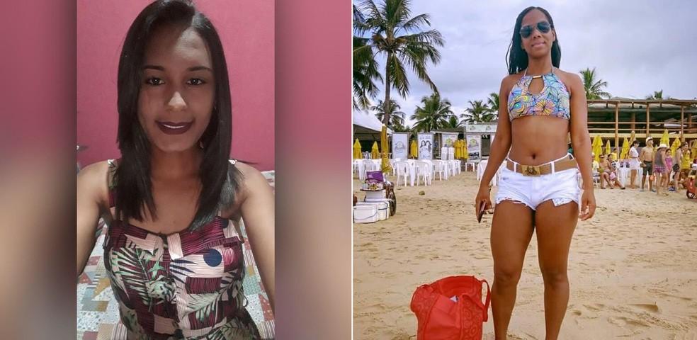 Danielly e Valdineia, moradoras de Manga (MG), estão entre os três procurados após embarcação virar no rio Carinhanha, na Bahia — Foto: Reprodução Facebook