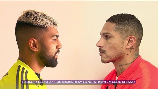 Prova dos 9: Guerrero e Gabigol trocam elogios e têm tira-teima no Inter x Flamengo da Libertadores