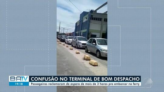 Ferry boat tem espera de 5h para embarque de veículos na Ilha de Itaparica