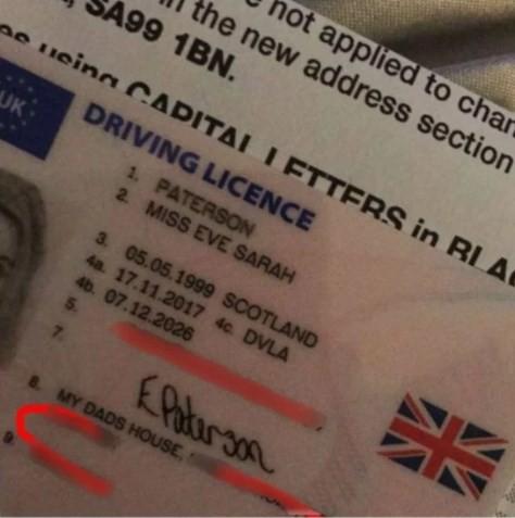'Casa do meu pai' é o endereço de jovem em carteira de motorista