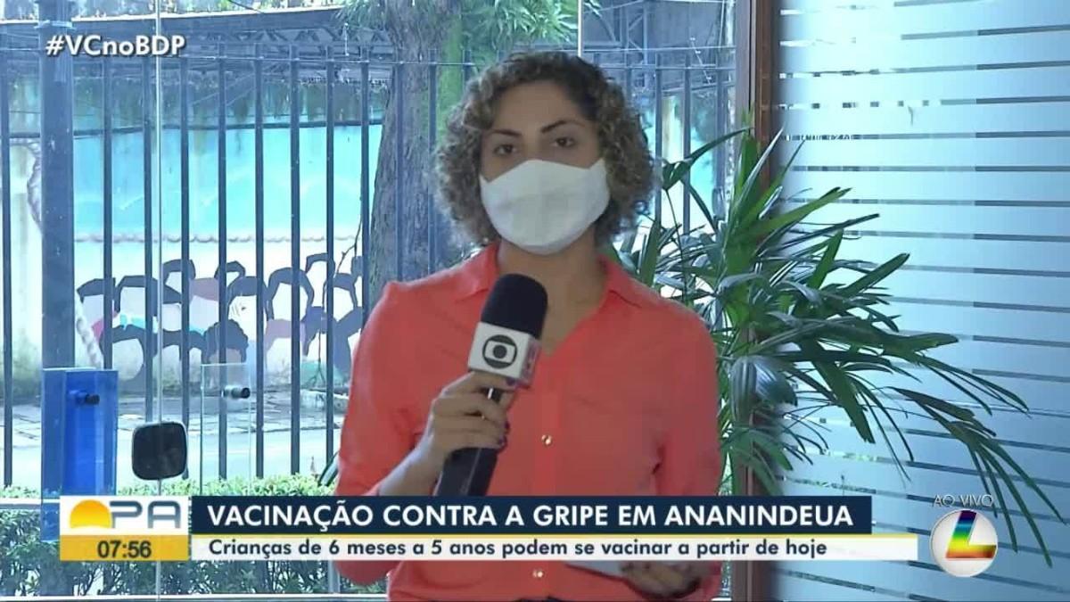Crianças de seis meses a cinco anos são incluídas em campanha de vacinação contra gripe em Ananindeua