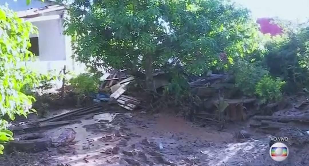 Sítio destruído na região do Parque das Cachoeiras, em Brumadinho.