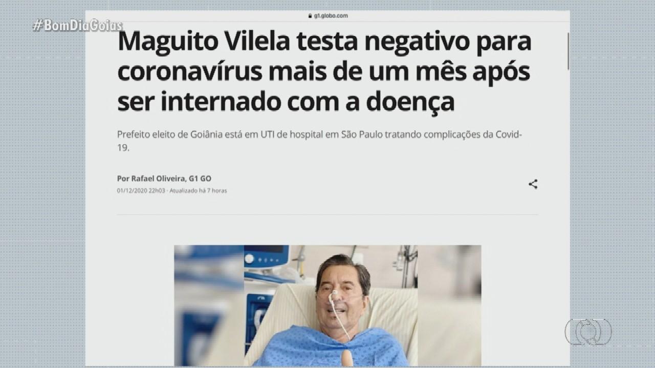 Maguito Vilela testa negativo para coronavírus mais de um mês após ser internado