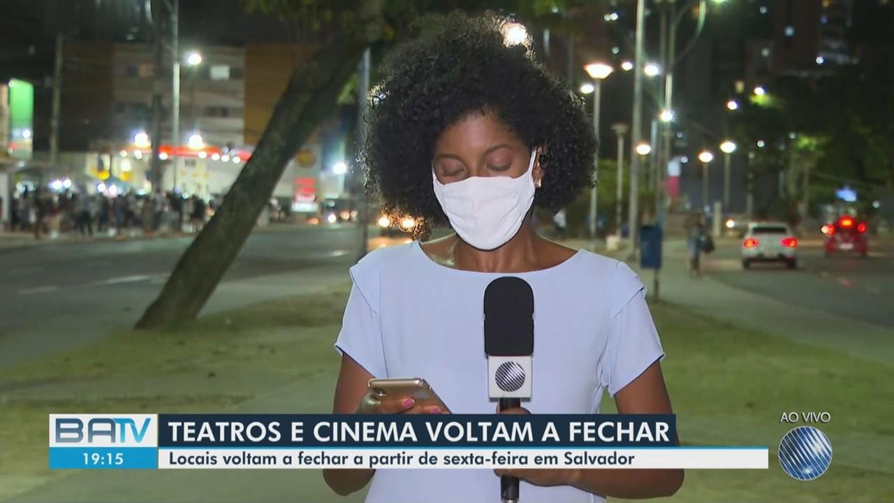 Bruno Reis anuncia fechamento de cinemas em Salvador a partir de sexta-feira