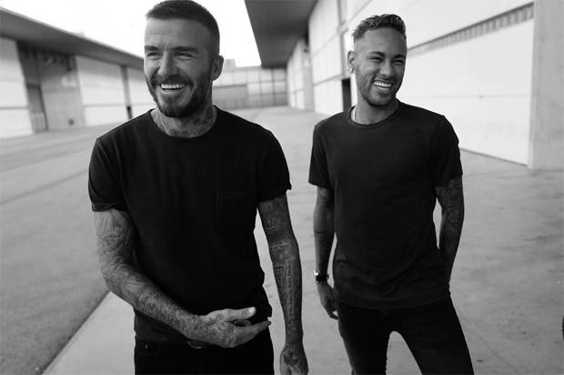 David Beckham e Neymar (Foto: Reprodução / Instagram)
