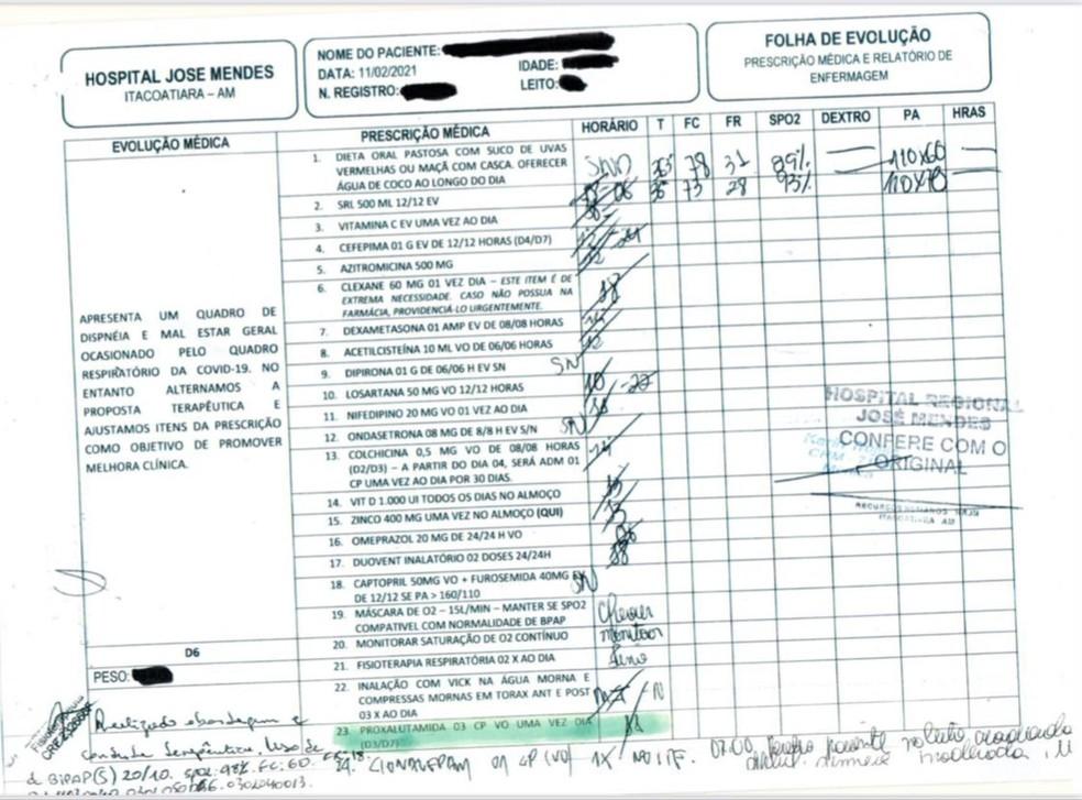 Prontuário de Zenite Gonzaga  — Foto: Arquivo pessoal