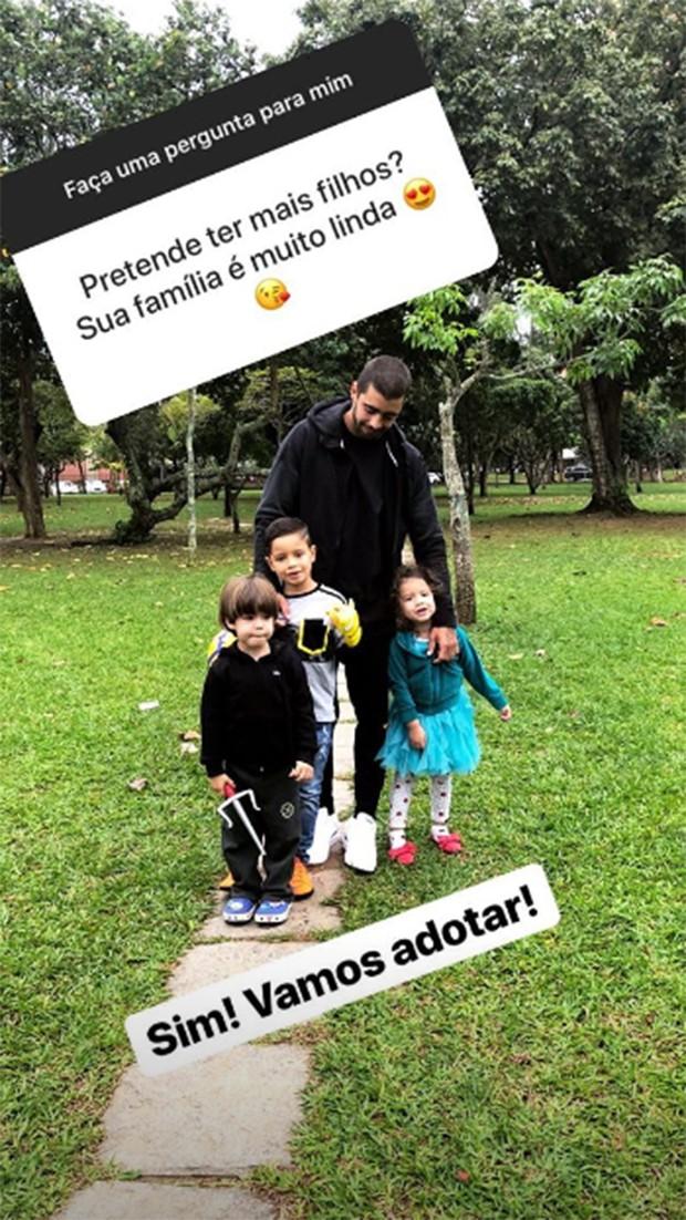 Pedro Scooby revela desejo de mais um filho (Foto: Reprodução/Instagram)