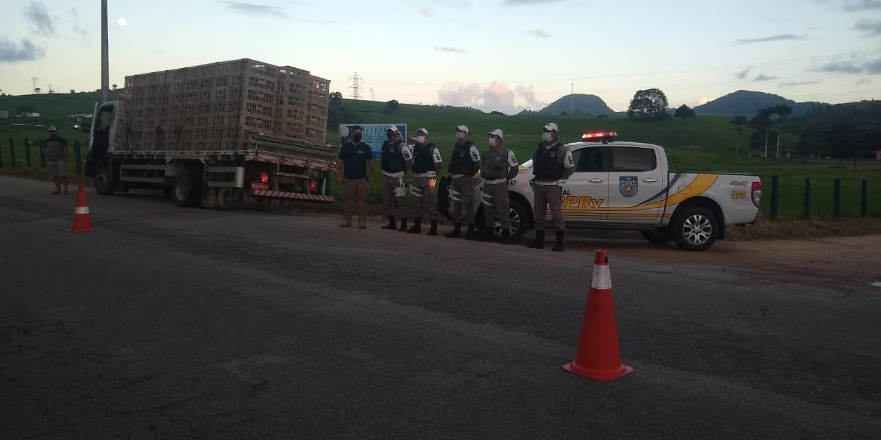 Fiscalização aborda caminhões que fazem transporte irregular de animais na AL-210