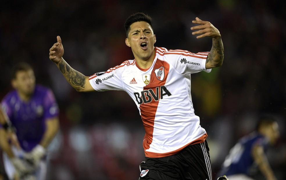 Enzo Pérez  é destaque do River Plate que enfrentará o Flamengo (Foto: Juan Mabromata/AFP)