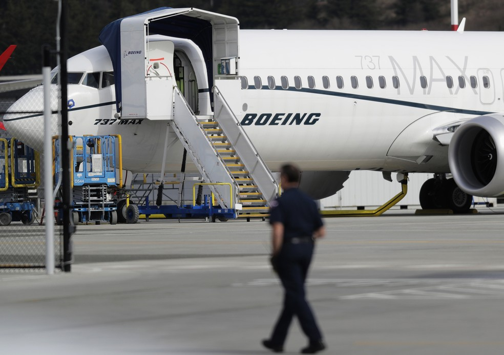 O modelo 737 MAX 8, da fabricante Boeing. — Foto: Ted S. Warren/AP