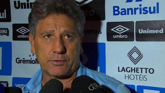 """Renato ressalta postura do Grêmio em """"vitória maiúscula"""" sobre o Atlético-MG"""