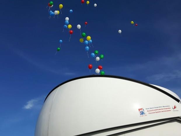 Telescópio que vai monitorar lixo espacial é inaugurado em laboratório de Brazópolis (Foto: Samantha Silva / G1)
