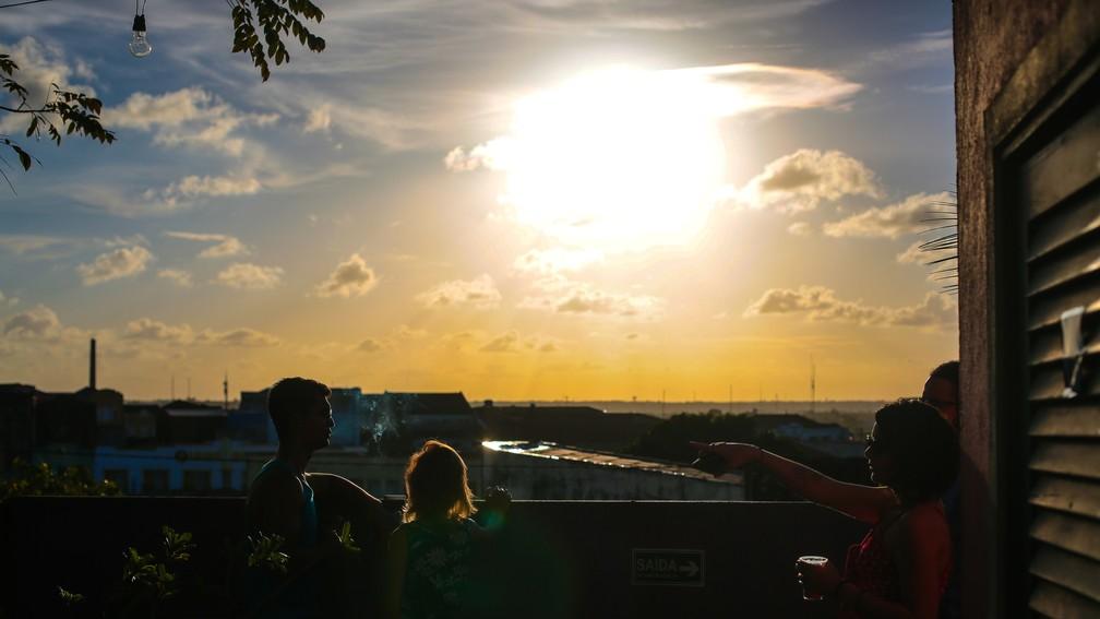 Pôr do Sol a partir da Ladeira da Borborema, em João Pessoa (Foto: Rafael Passos/Arquivo pessoal)
