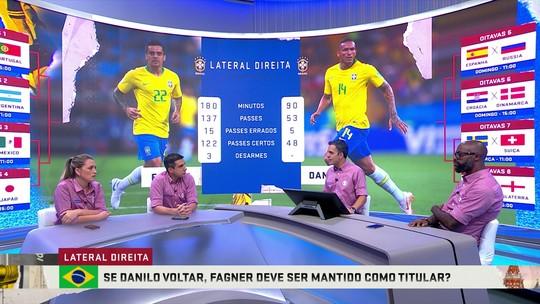 Danilo x Fagner: Troca de Passes compara desempenho dos laterais da Seleção Brasileira