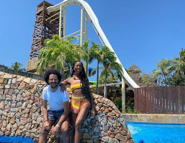 João Luiz e Camilla de Lucas (Foto: Divulgação Beach Park)