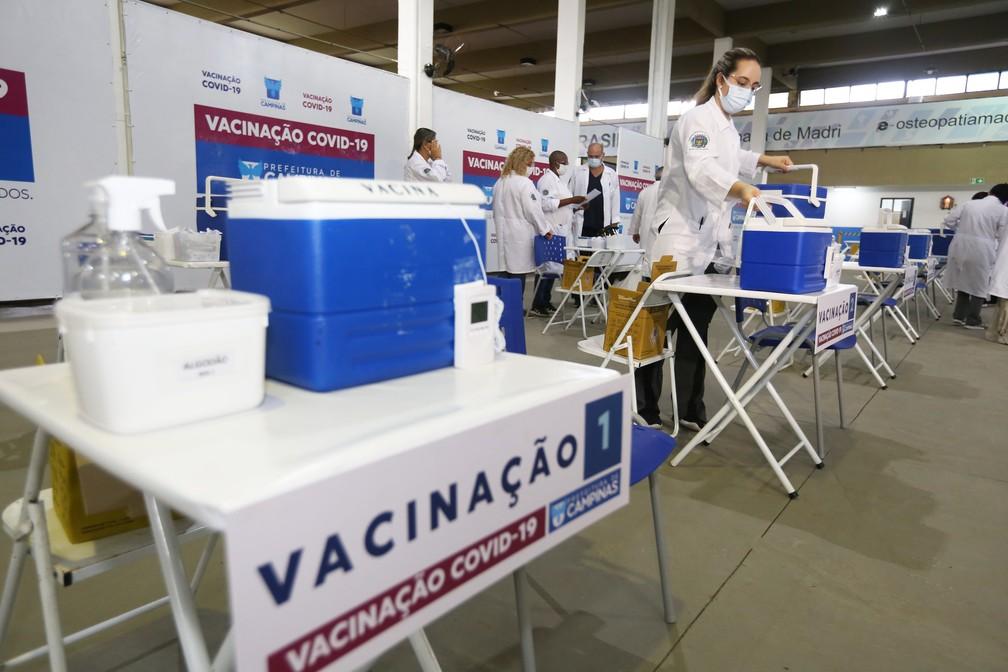 Centro de vacinação contra a Covid-19 em Campinas (SP) — Foto: Adriano Rosa/Prefeitura de Campinas