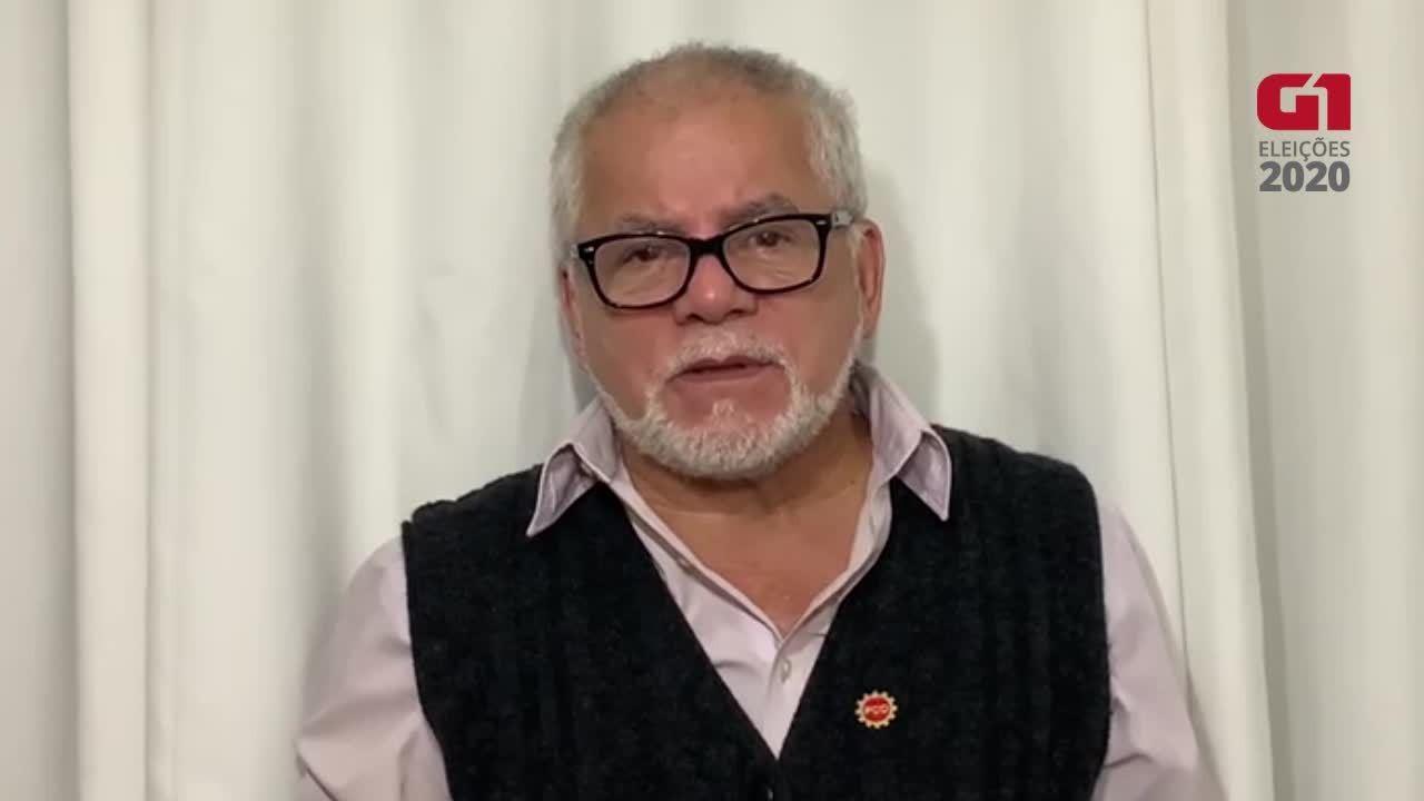 Ônibus - Antônio Carlos, candidato à Prefeitura pelo PCO
