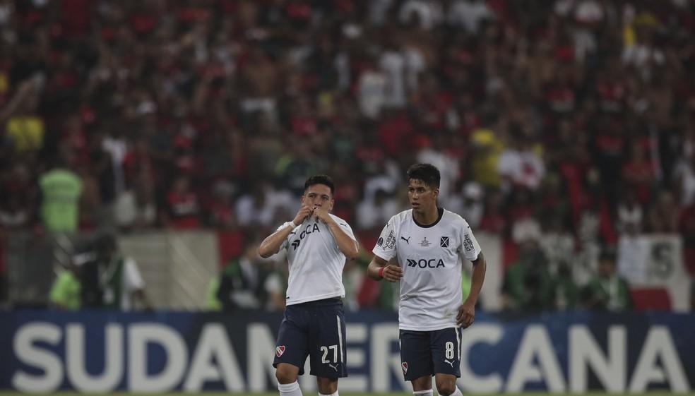 Barco marcou o gol que garantiu o t?tulo para o Independiente, no Maracan? (Foto: Efe)