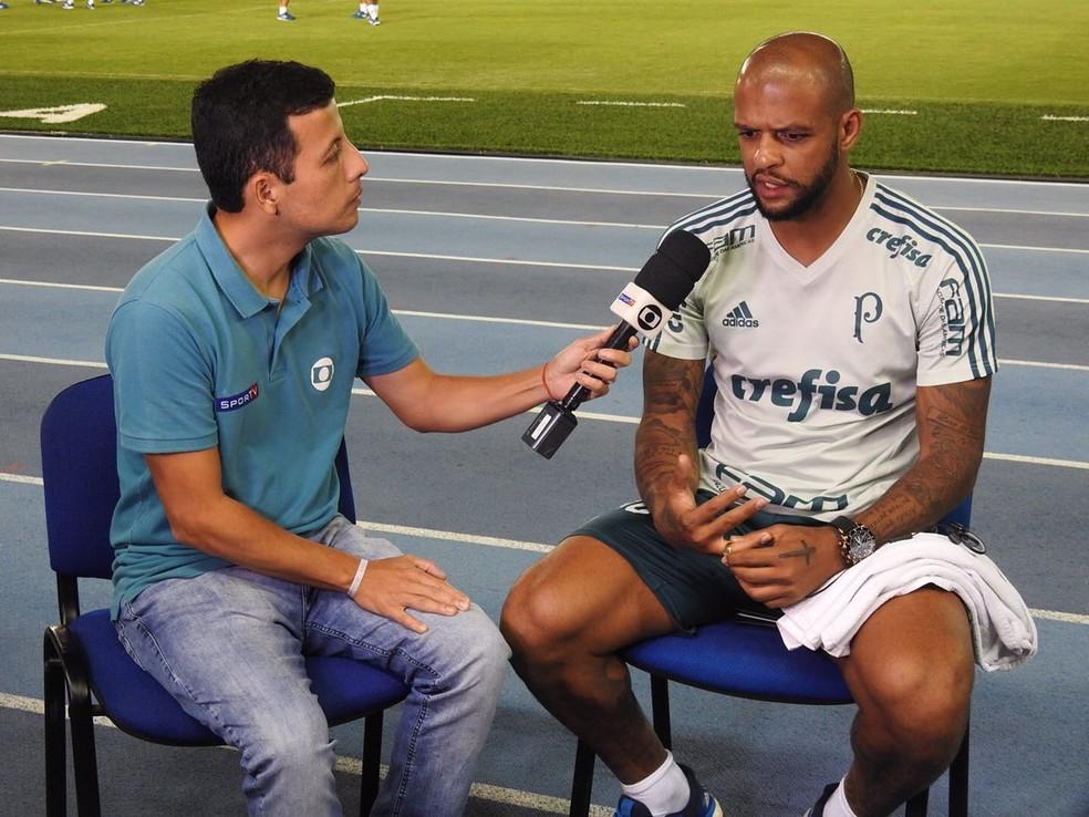 Felipe Melo durante entrevista em Barranquilla (Foto: Felipe Zito)