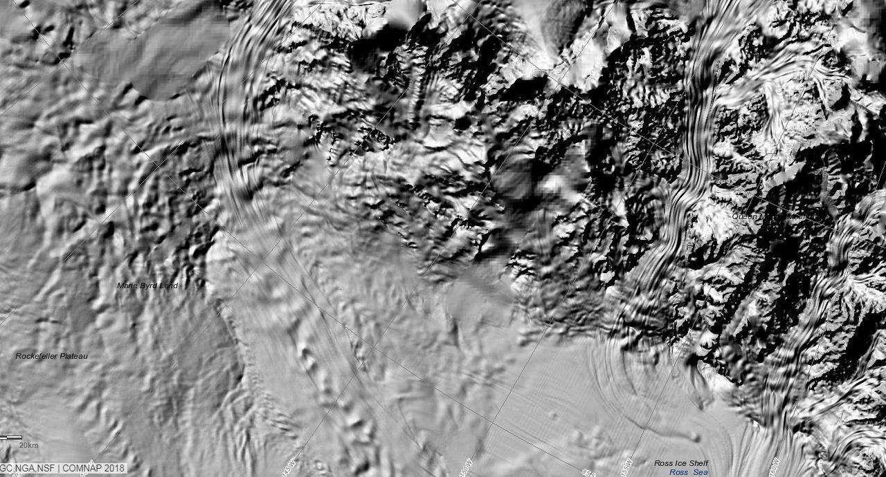 Detalhe do mapa topográfico de alta definição da Antártica.   (Foto: REMA)