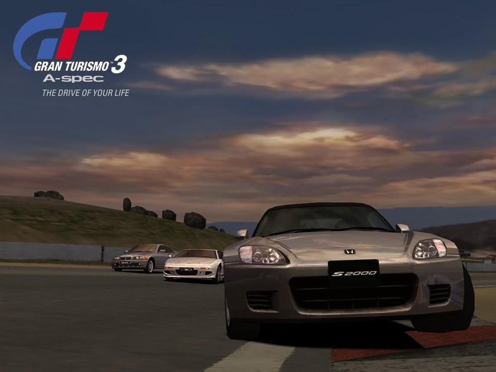 Gran Turismo 3 também foi um sucesso — Foto: Divulgação/Sony