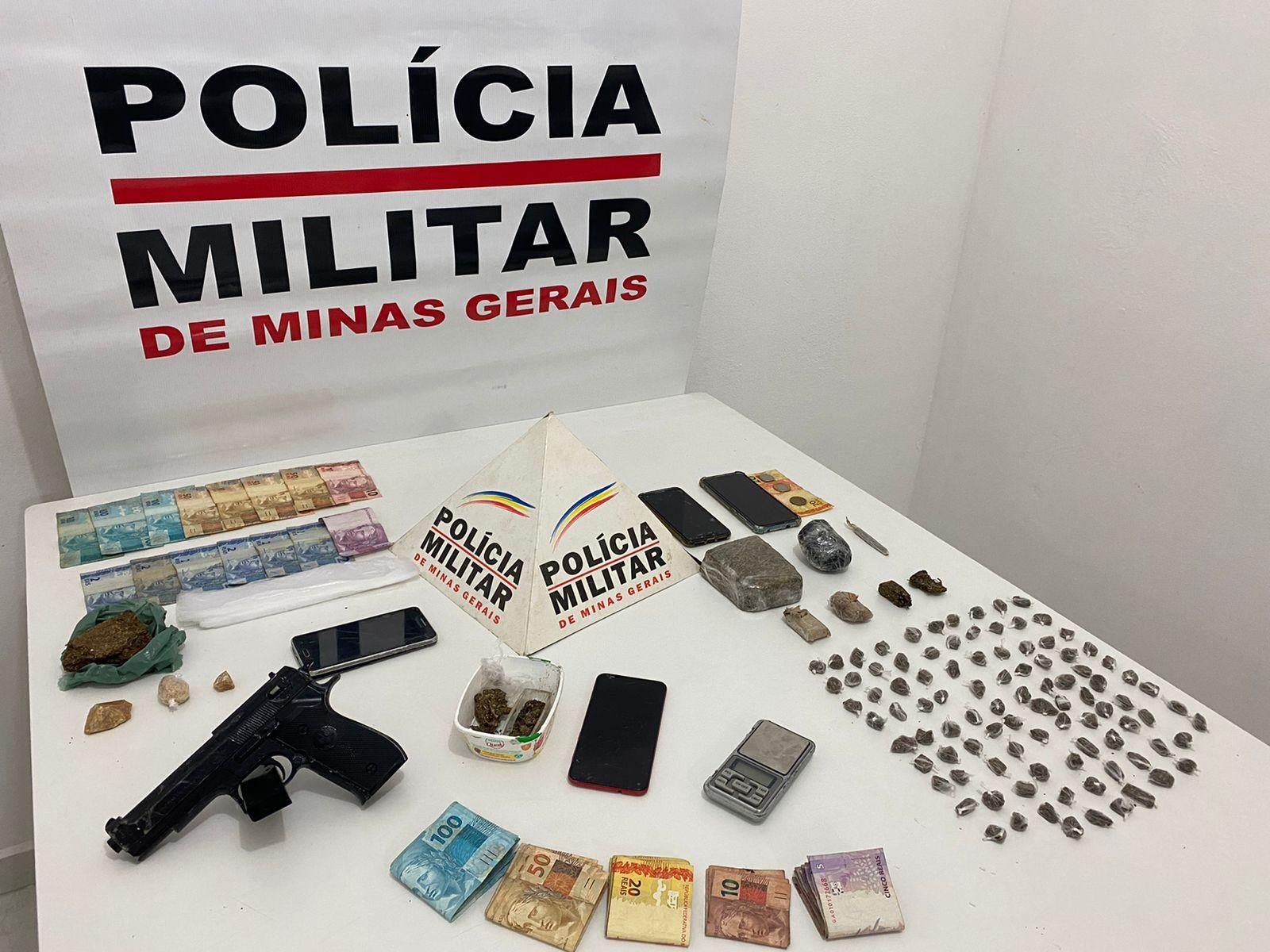 Grupo é preso com drogas, arma e dinheiro durante a  operação policial em São João Nepomuceno, Bicas e Descoberto
