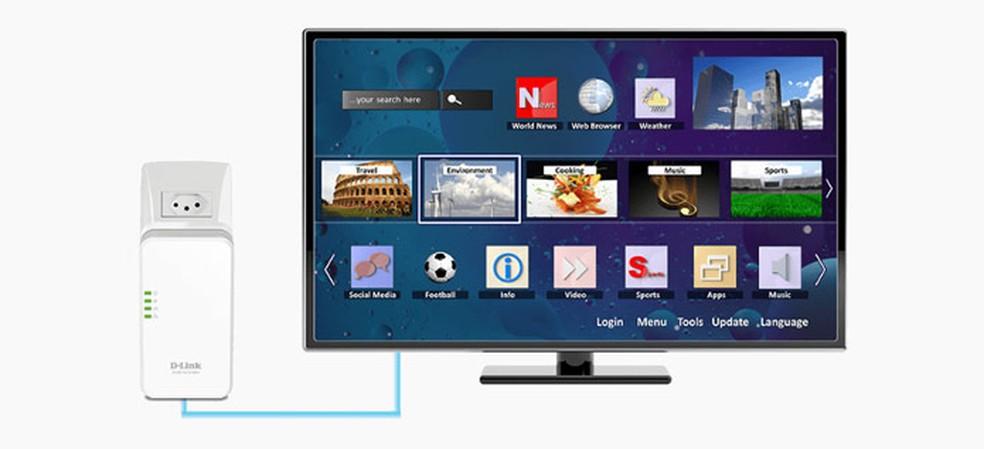 Repetidor pode ser usado para levar internet à sua Smart TV, por exemplo — Foto: Reprodução/site D-Link.com.br