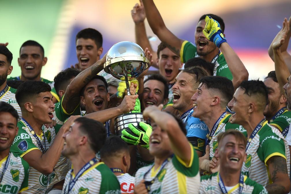 Defensa y Justicia é o atual campeão da Copa Sul-Americana — Foto: EFE