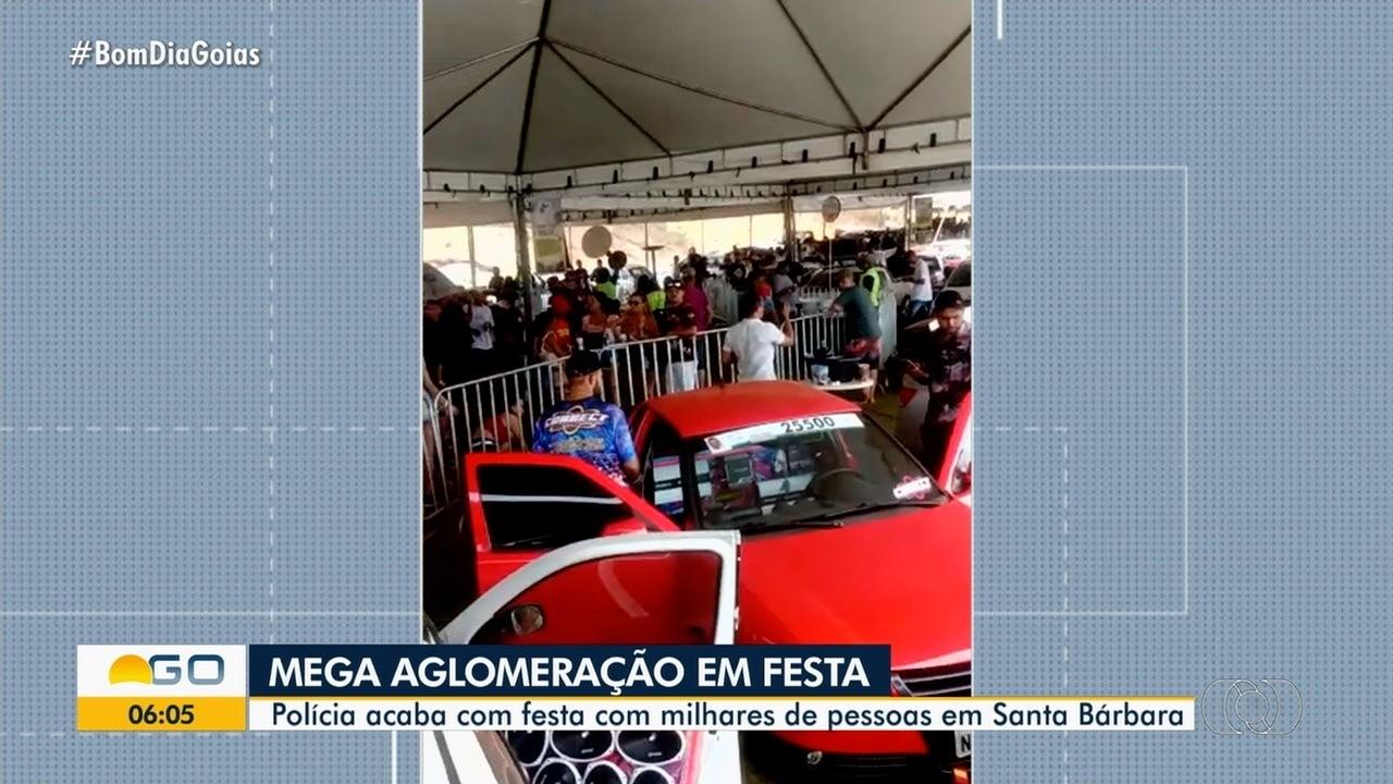 Vídeos mostram aglomeração em festa no lago de Santa Bárbara