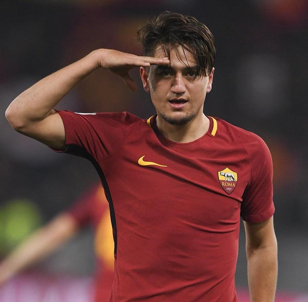 O jovem turco Ünder foi o nome do jogo (Foto: Divulgação / Roma)