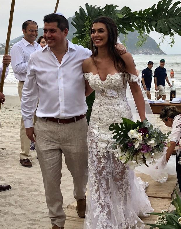 Letícia Datena e  Rodrigo Norambuena (Foto:  JC Assessoria )
