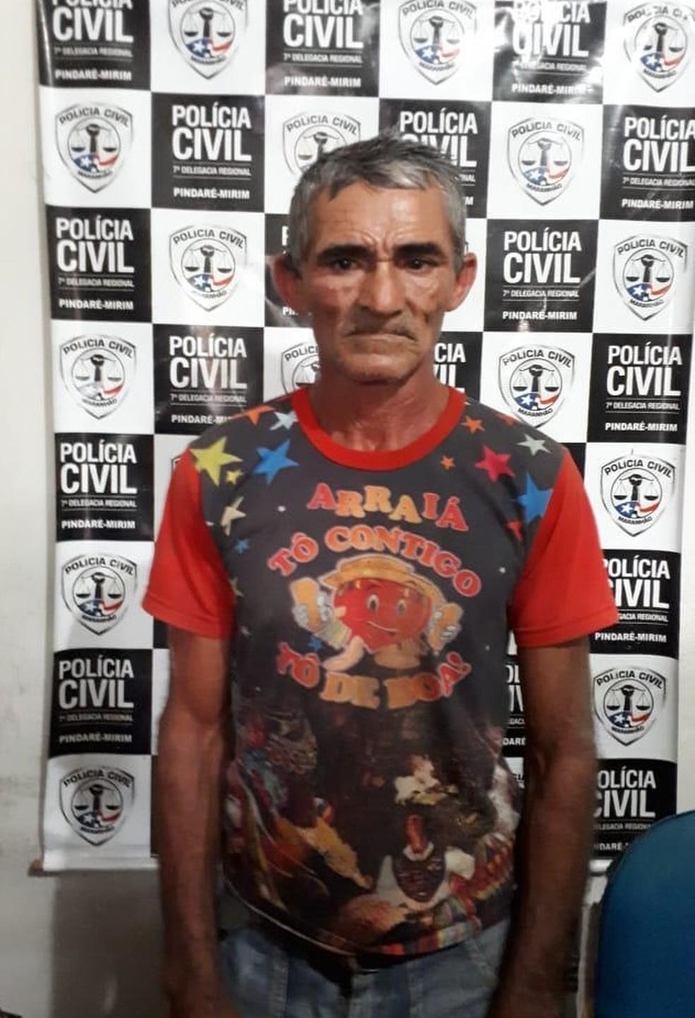 Edilson Mendes Cutrim foi preso e conduzido para Delegacia de Pindaré Mirim — Foto: Divulgação/Polícia