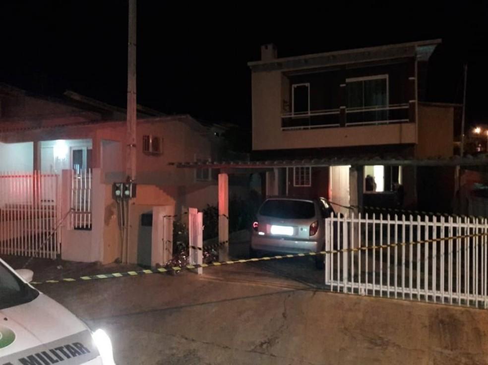 Suspeito do assassinato fugiu do local.  — Foto: Polícia Civil/Divulgação