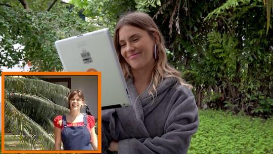 Carolina Dieckmann se emociona ao rever vídeo da gravidez do primeiro filho, Davi