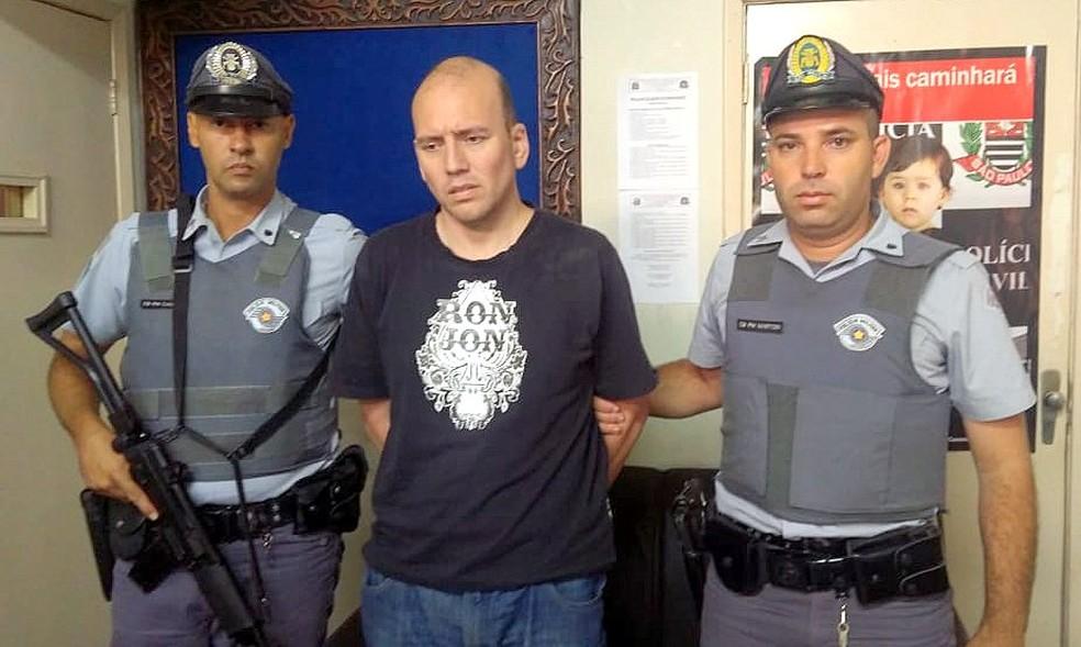 Empresário foi preso em Presidente Epitácio — Foto: Polícia Rodoviária/Cabo MarToni e Cassius