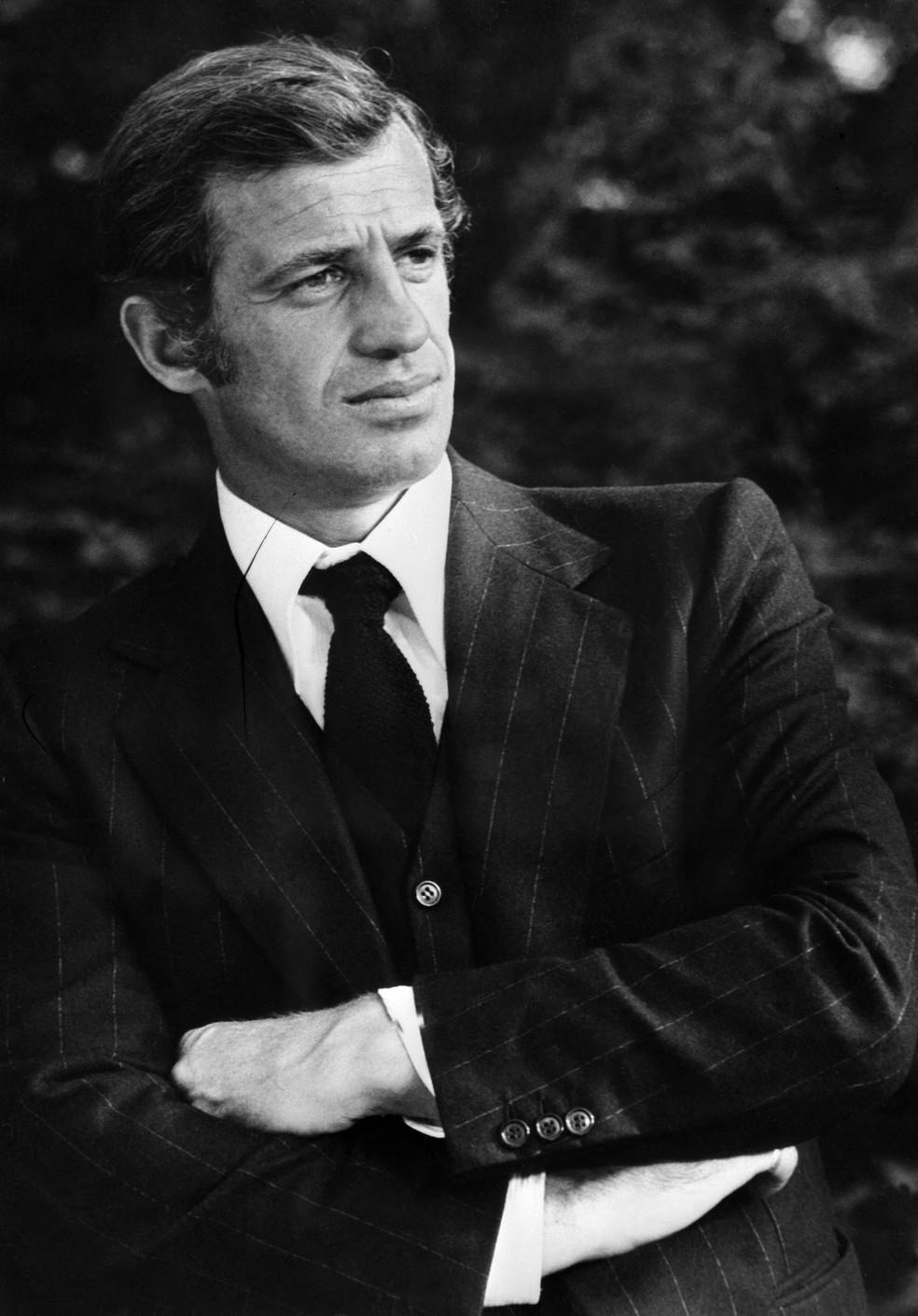 Jean-Paul Belmondo em foto de janeiro de 1973 — Foto: AFP/Arquivo
